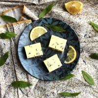Carrés crus citron-verveine